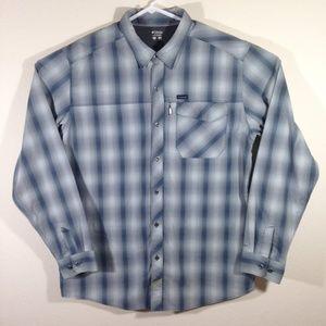Columbia Omni Dry Long Sleeve Plaid Vented Shirt